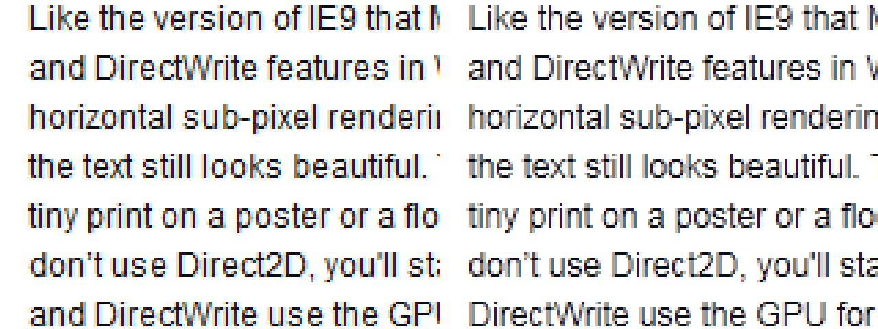 Browser font rendering comparison 2